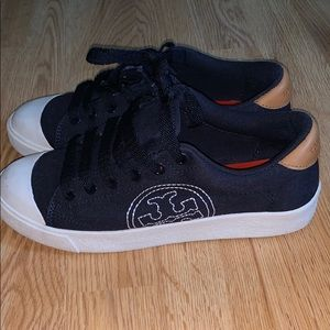 Tory Burch sneakers shoes. Navy Blue. Size 6